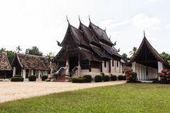 Wat Ton Kain, Old wood chapel in Chiang Mai Thailand Royalty Free Stock Images
