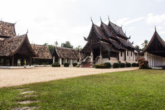 Wat Ton Kain, Old wood chapel in Chiang Mai Thailand Royalty Free Stock Photo