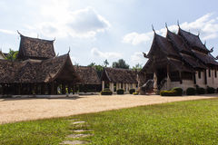 Wat Ton Kain, Old wood chapel in Chiang Mai Thailand Stock Image