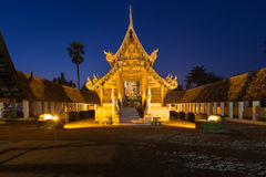 Wat Ton Kain, Old wooden temple Stock Images