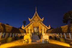 Wat Ton Kain, Old wooden temple Stock Photography