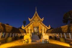 Wat Ton Kain, templo de madera viejo Fotografía de archivo