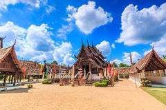 Wat Ton Kain, Thailand. 700 years old wooden temple called Wat Ton Kain in Chiangmai province of Thailand Royalty Free Stock Images