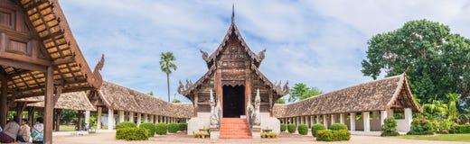 Wat Ton Kain, vieux temple fait à partir du bois en Chiang Mai Thailand Photographie stock