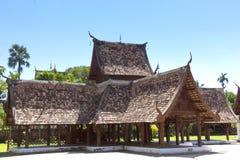Wat Ton Khen, templo de madera viejo en estilo del lanna, Tailandia Foto de archivo