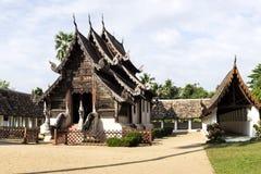 Wat Ton Kwain, Chiangmai, Tailandia Es el archite verdadero de Lanna Foto de archivo