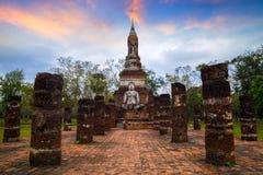 Wat Tra Phang Ngoen Temple på historiska Sukhothai parkerar, Thailand Arkivbilder
