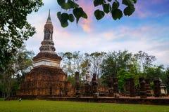 Wat Tra Phang Ngoen Temple på historiska Sukhothai parkerar, Thailand Royaltyfria Bilder