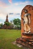 Wat Tra Phang Ngoen Temple på historiska Sukhothai parkerar, Thailand Arkivbild