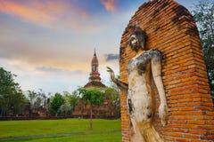 Wat Tra Phang Ngoen Temple på historiska Sukhothai parkerar, Thailand Arkivfoto
