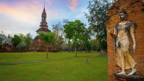 Wat Tra Phang Ngoen Temple på historiska Sukhothai parkerar, Thailand Arkivfoton