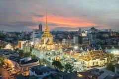 Wat Traimit à Bangkok, Thaïlande Image libre de droits