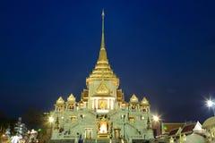 Wat Traimit Arkivfoton