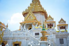 Wat Traimit Buddhist Temple a Bangkok, Tailandia fotografie stock libere da diritti