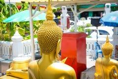 Wat Traimit Buddhist Temple a Bangkok, Tailandia immagine stock libera da diritti