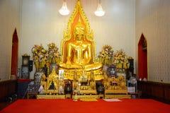 Wat Traimit Buddhist Temple a Bangkok, Tailandia immagini stock libere da diritti