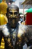 Wat Traimit Buddhist Temple a Bangkok, Tailandia immagine stock