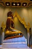 Wat Traimit Buddhist Temple a Bangkok, Tailandia fotografia stock libera da diritti