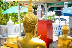 Wat Traimit Buddhist Temple en Bangkok, Tailandia imagen de archivo libre de regalías