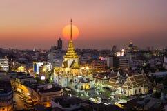 Wat Traimit Witthayaram Worawihan, ναός του χρυσού Βούδα μέσα στοκ φωτογραφία με δικαίωμα ελεύθερης χρήσης