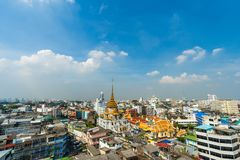 Wat traimitr withayaram temple in Bangkok, Thailand royalty free stock photos