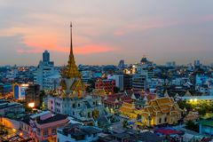 Wat traimitr withayaram temple in bangkok , Thailand. Wat traimitr withayaram temple in bangkok Thailand. Unseen in thailand stock photo