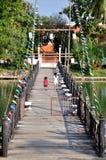 Bridge to Wat Traphang Thong Royalty Free Stock Photography