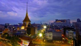 Wat Trimit Wittayaram. Traimit Wittayaram Temple, where the Golden Buddha be enshrined. Yaowarat Road, Bangkok, Thailand. 19 November 2016. With purple filter stock images