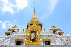 Wat Trimitr Vityaram Voravihahn, temple du Bouddha d'or Photographie stock