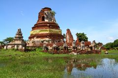 Wat Tummickarat in Ayutthaya Historic Park Royalty Free Stock Photos