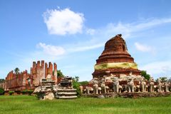 Wat Tummickarat in Ayutthaya Historic Park Royalty Free Stock Images