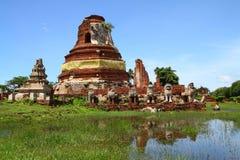 Wat Tummickarat nella sosta storica di Ayutthaya Fotografie Stock Libere da Diritti