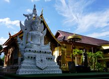 Wat Tung Yu Chaing Mai, Thailand Arkivfoton