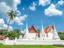 Wat Uposatharam tempel på Uthai Thani, Thailand royaltyfri bild