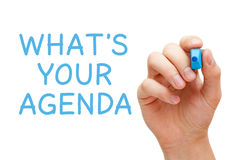Wat Uw Agenda is stock foto's