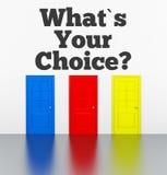 Wat is uw keus? Royalty-vrije Stock Fotografie