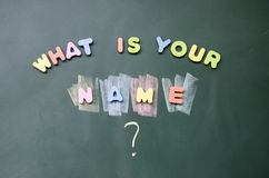 Wat uw naam is Stock Afbeeldingen