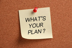 Wat is uw plan? royalty-vrije stock foto's