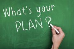 Wat uw plan is Royalty-vrije Stock Fotografie