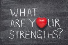 Wat uw sterke punten hart zijn stock afbeelding
