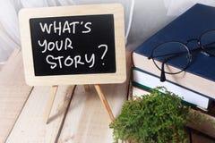 Wat Uw Verhaal, Motieven Inspirational Citaten is stock afbeelding