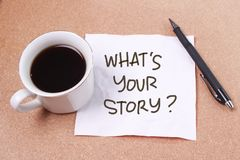 Wat Uw Verhaal, Motieven Inspirational Citaten is royalty-vrije stock foto's