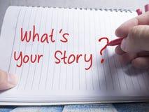 Wat Uw Verhaal, Motieven Inspirational Citaten is royalty-vrije stock afbeeldingen