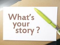Wat Uw Verhaal, Motieven Inspirational Citaten is stock afbeeldingen