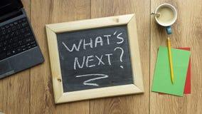 wat volgende is? Stock Foto