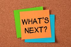 wat volgende is? Stock Afbeeldingen