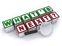 wat volgende is? Stock Foto's