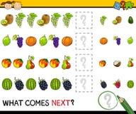 Wat volgende spelbeeldverhaal komt Stock Foto