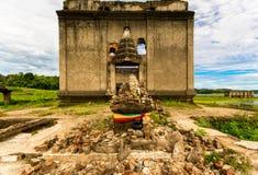 Wat Wang Wiwekaram古庙泰国 免版税库存图片