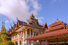 Wat Wang Wiwekaram, most revered Buddhist temple in Sangkhla Bur Royalty Free Stock Photography